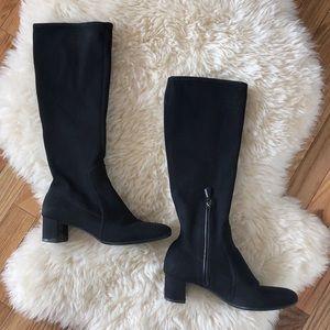 Prada Radzmire Tall Stretch Sock Boots Black